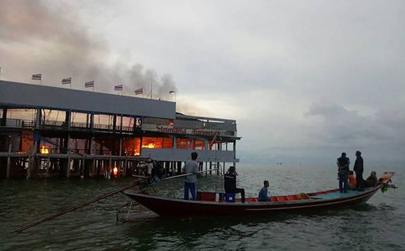 Surat Thani oyster farmstay burns down | The Thaiger