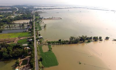 Mekong water level drops but surrounding areas remain submerged | The Thaiger