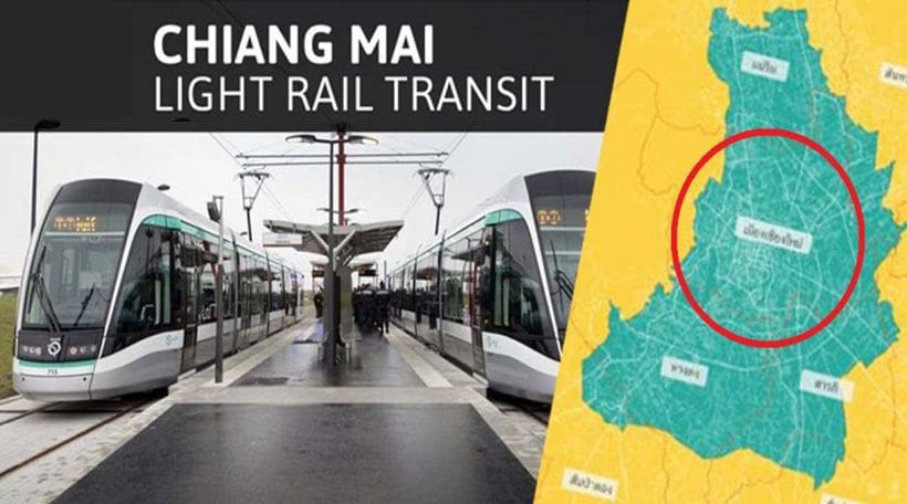 Green light for new Chiang Mai light rail project | The Thaiger