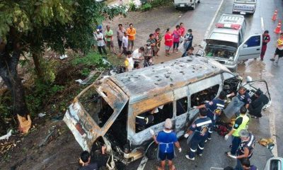 Nine Burmese migrants die in van crash inferno | The Thaiger