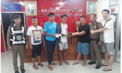 Phuket boys return tourist's cash and belongings | The Thaiger