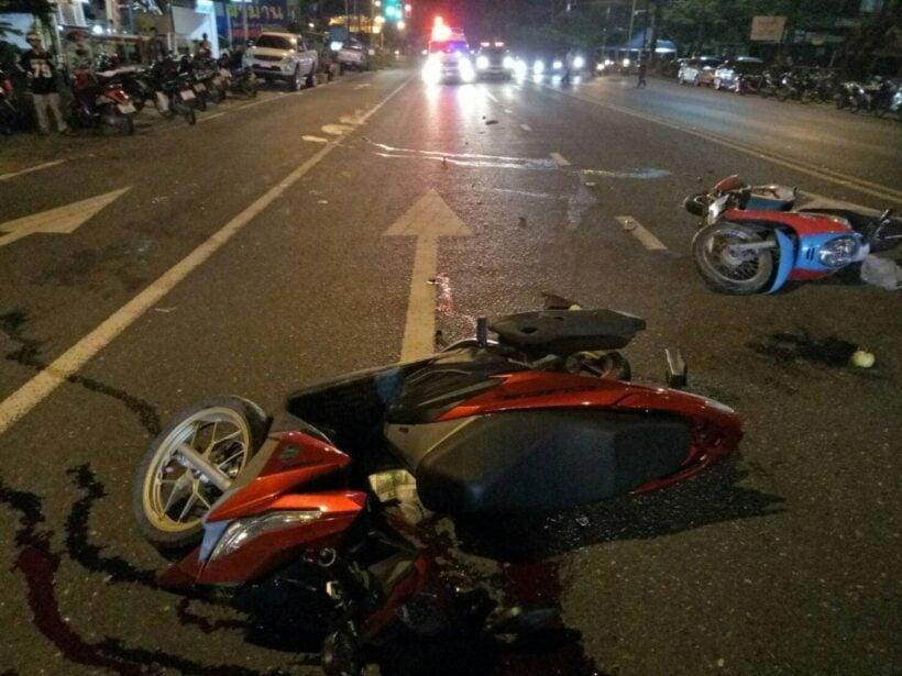 หนุ่มขับรถจักรยานยนต์ชนท้ายรถจักรยานยนต์ของสาว เสียชีวิตคาที่ใน อ.ถลาง   The Thaiger
