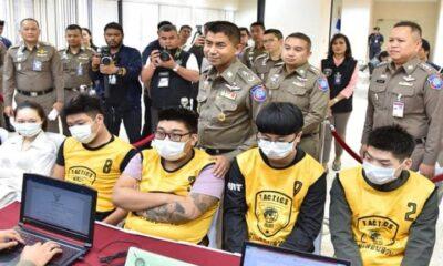 รวบแก๊งจีน ปล่อยเงินกู้ดอกโหด ใช้ไทยเป็นฐานทวงหนี้   The Thaiger
