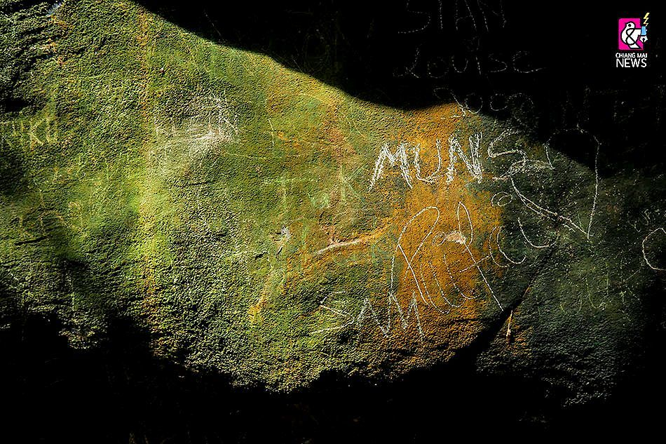 Tourists grafitti Chiang Mai caves | News by The Thaiger