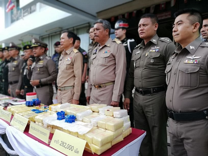 282K methamphetamine pills seized in Krabi | The Thaiger