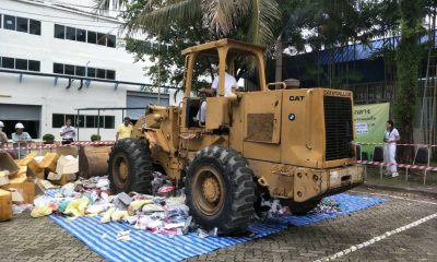 Million baht of counterfeit and prohibited  goods destroyed   The Thaiger