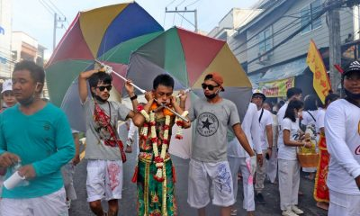Day 4 – Phuket Vegetarian Festival processions ramp up the 'crazy' | The Thaiger