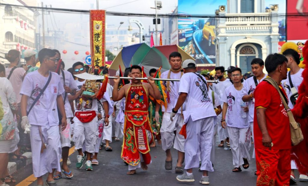 Day 4 - Phuket Vegetarian Festival processions ramp up the 'crazy' | News by The Thaiger