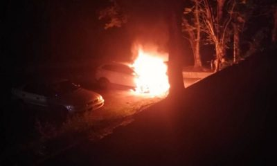 Volvo explodes into flames outside Phuket Temple | The Thaiger