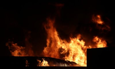Fire destroys plastic water pipes in Rassada | The Thaiger