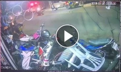 Phuket motorcyclist falls off bike at checkpoint – VIDEO | The Thaiger