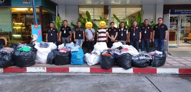 Fake goods seized and two arrested at Patong market | News by The Thaiger