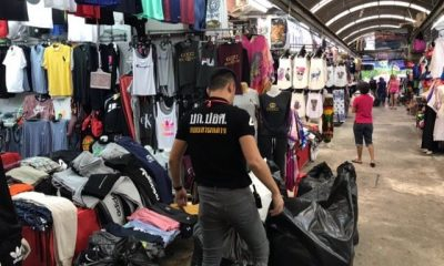 Fake goods seized and two arrested at Patong market | The Thaiger