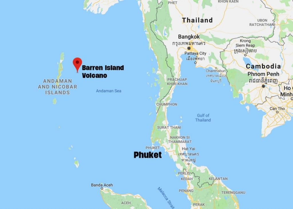 Andaman's Barren Island Volcano erupting | News by The Thaiger