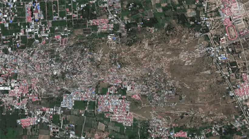 Satellite timelapse – Palu devastated by land liquefaction | The Thaiger