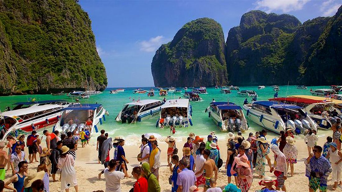 Thai beach closes indefinitely to give it time to recover from tourists