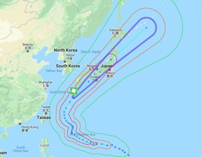 Trami storms through Japan, passes Tokyo last night | News by The Thaiger