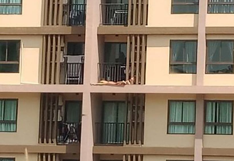Pic of female sunbather on Phuket balcony goes viral in social media | News by The Thaiger