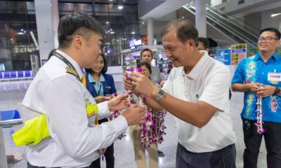 First Kunming-Krabi direct flight landed | The Thaiger