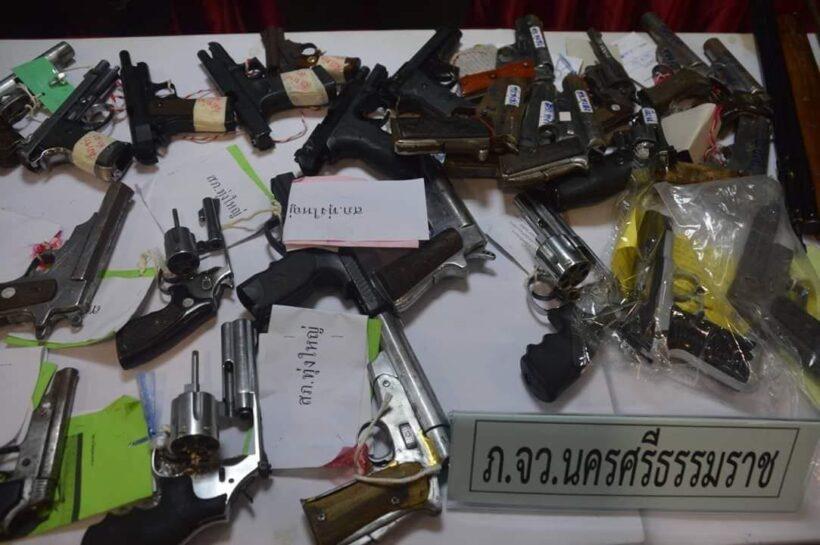 ภาค 8 แถลงผลกวาดล้าง 9 วัน ยาบ้า 3 ล้าน ปืนกว่า 100 | The Thaiger