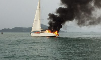 Nine British passengers escape luxury yacht fire | The Thaiger