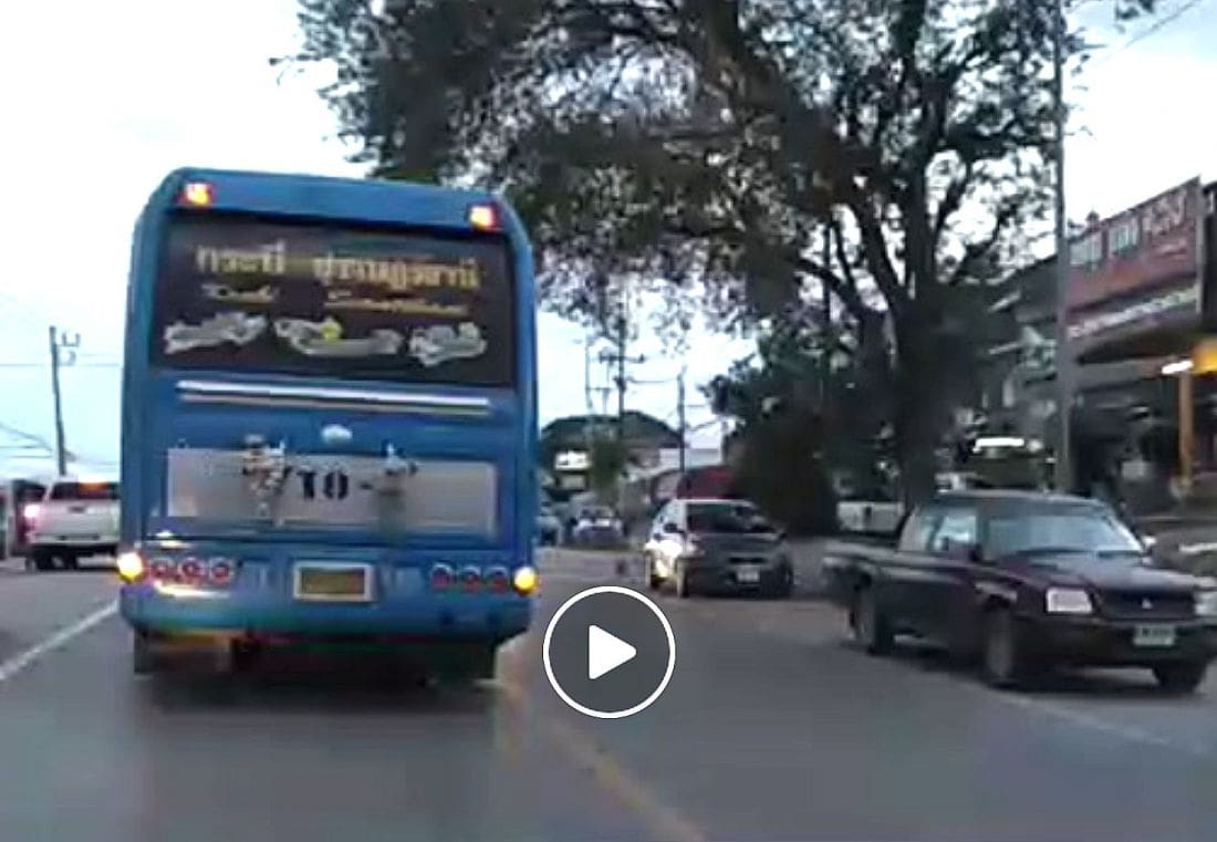 Bus driver and company charged after reckless driving in Krabi – VIDEO | The Thaiger