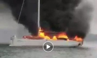 Luxury yacht completely destroyed by fire in Phang Nga Bay | The Thaiger