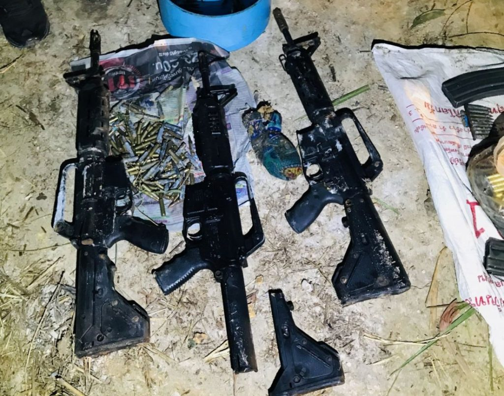 Police searching for owner of weapons hidden in bushes | News by Thaiger