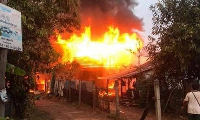96 year old perishes in Udon Thani house fire | The Thaiger