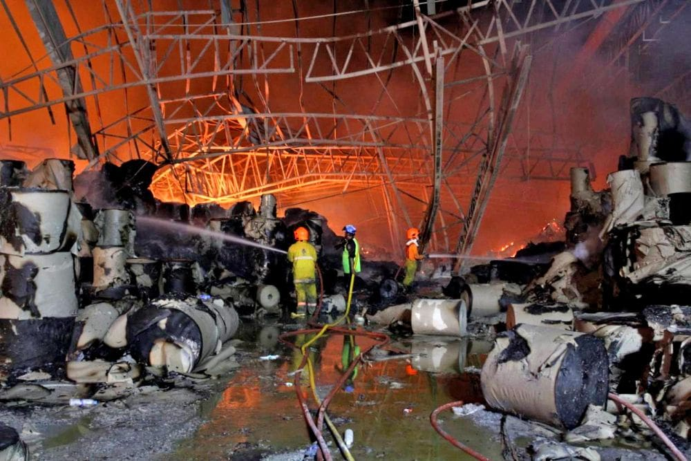 Three paper factory warehouses catch fire in Samut Prakan   News by Thaiger