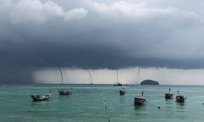 Multiple waterspouts observed off Koh Lipe – VIDEO | The Thaiger