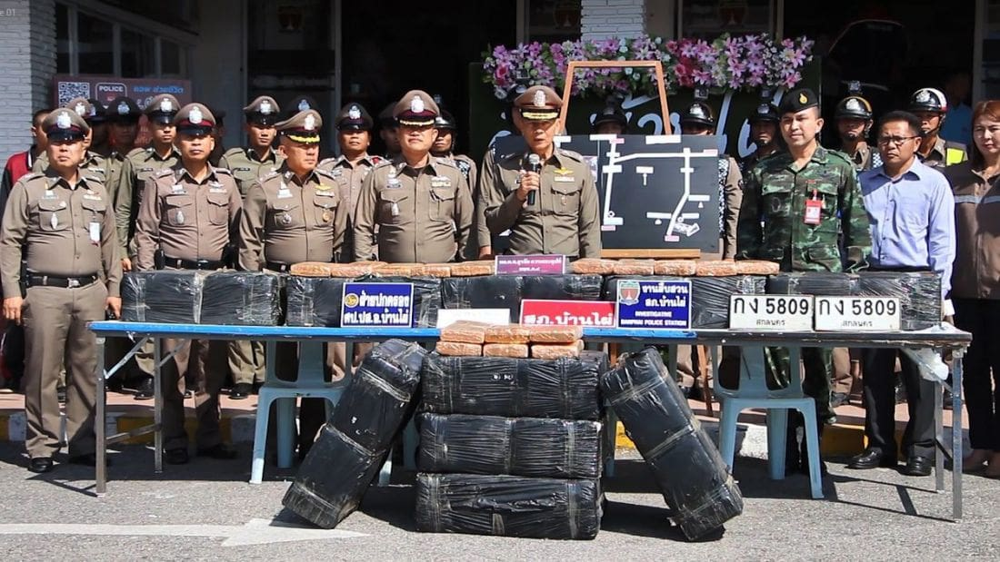 Half a tonne of marijuana seized… | The Thaiger