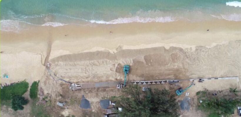 Marine Department halts construction of Karon retaining wall | The Thaiger