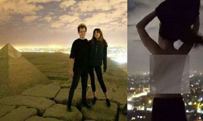 Nude couple pictured on top of Egyptian pyramid sparks investigation | The Thaiger