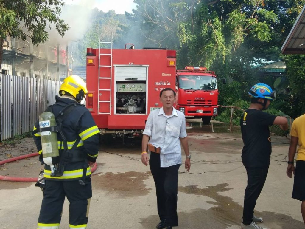Fire destroys workers' camp in Kathu | News by The Thaiger