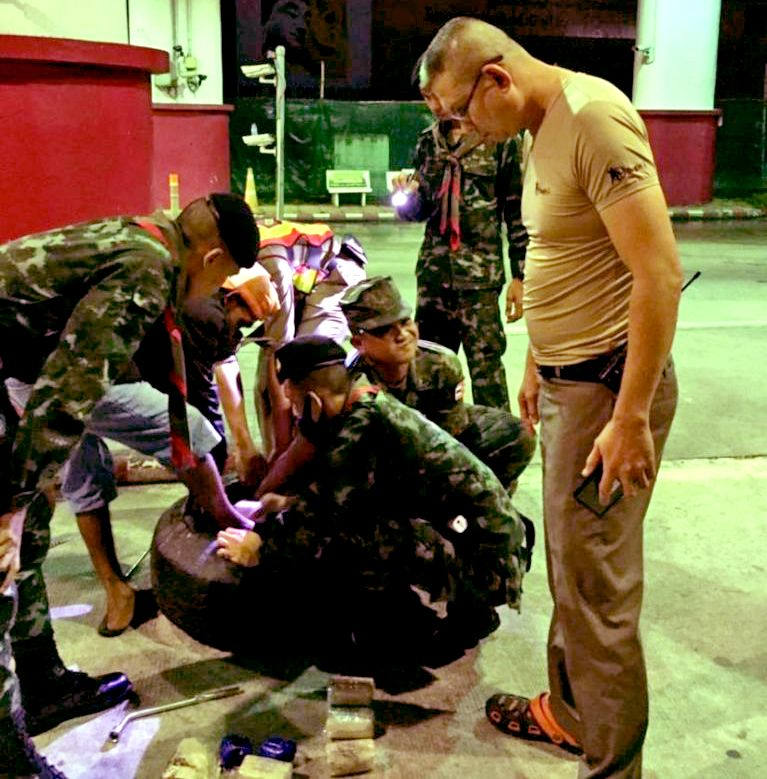 195K meth pills seized inside wheels on a truck at Phuket Checkpoint | News by Thaiger