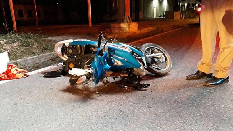 หนุ่มนครศรีฯ ขับรถจักรยานยนต์เสียหลักพุ่งชนเสาไฟฟ้า พื้นที่ ต.เกาะแก้ว   The Thaiger
