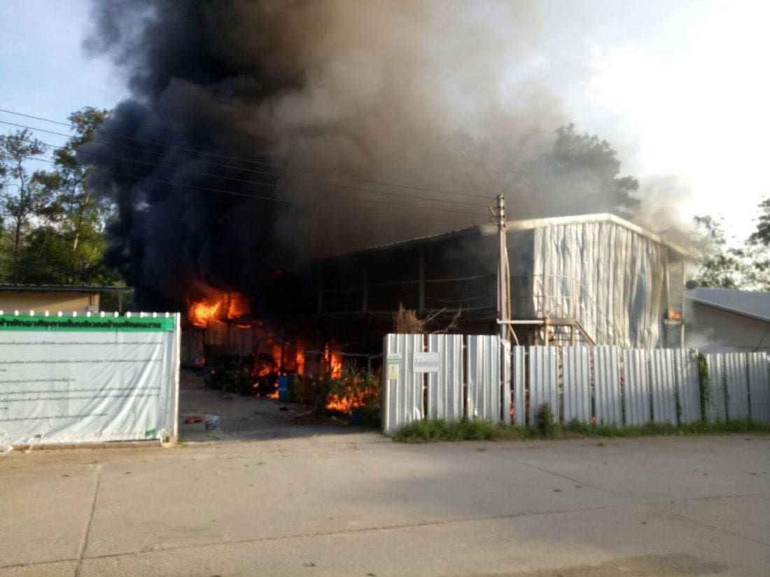 Two workers' camps go up in flames within four hours | The Thaiger