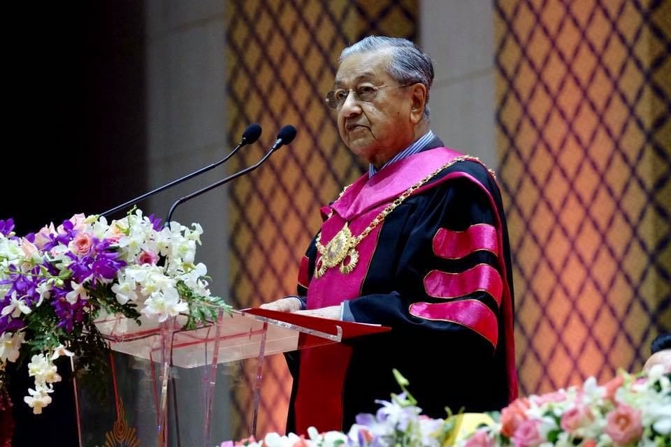 Malaysian PM receives honorary doctorate from Rangsit University | The Thaiger