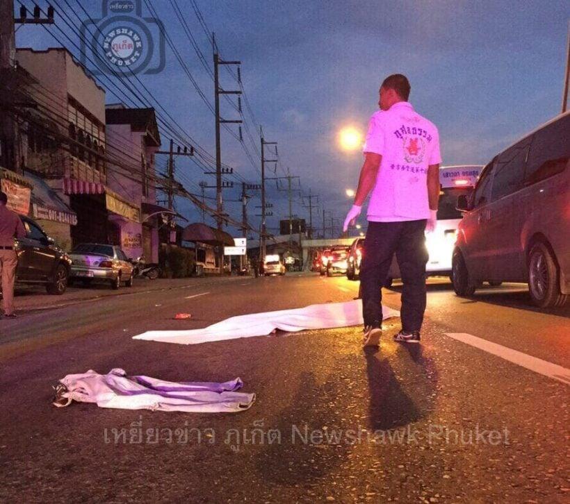 พ่อเฒ่าข้ามถนนไม่ระวังถูกแท็กซี่ป้ายเขียวพุ่งชนดับ | The Thaiger