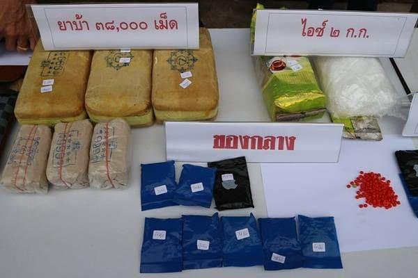 ตำรวจพังงาโชว์ผลงานจับกุมเครือข่ายยาเสพติด ได้ไอซ์กว่า 2 กก. ยาบ้ากว่า 8 หมื่นเม็ด | The Thaiger