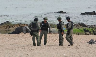 Three bombs found on a Songkhla beach after blasts damage famous mermaid statue | The Thaiger