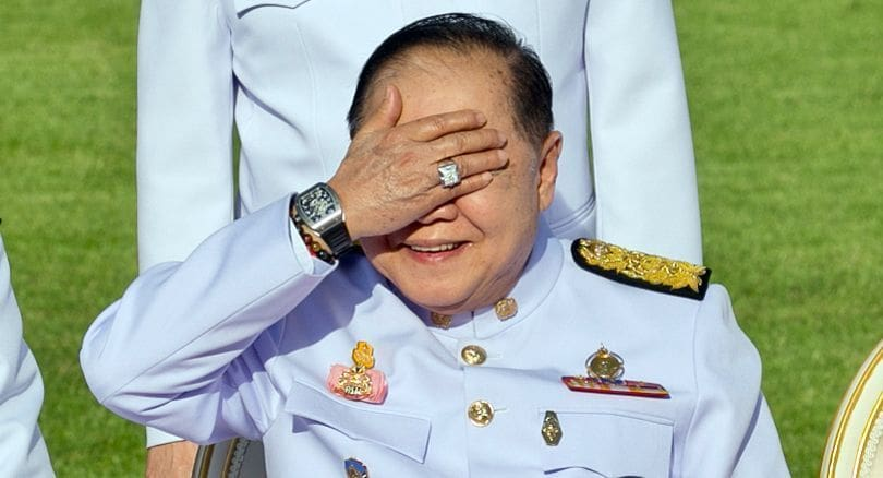 NACC finds Prawit innocent in relation to luxury watches | The Thaiger