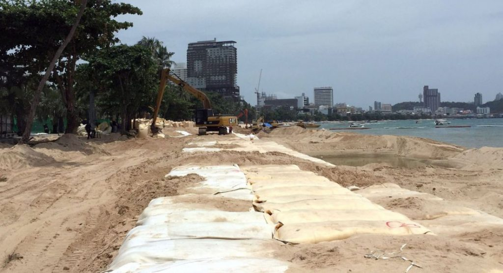 Pattaya's reclaimed beaches are washing away | News by The Thaiger