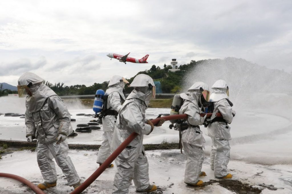 Emergency crews battle airport fire. All part of regular drills. | News by The Thaiger