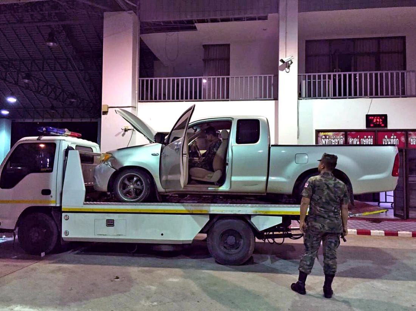 9801b494d6 195K meth pills seized inside wheels on a truck at Phuket Checkpoint ...