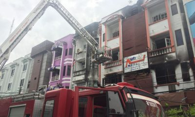 Fire damaged an embroidery shop in Phuket Town, put radio station off air | The Thaiger