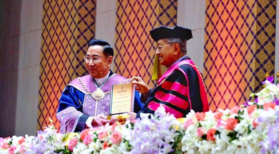 Malaysian PM receives honorary doctorate from Rangsit University   News by Thaiger