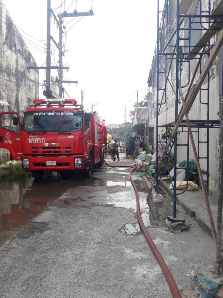 Fire destroys wooden house in Wichit | News by The Thaiger