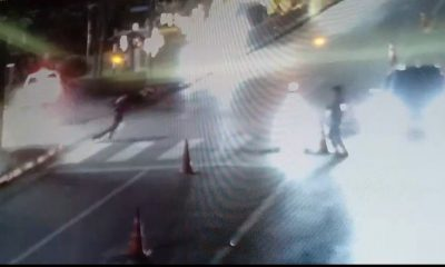 Cherng Talay Police narrowly escape injury after drunk driver plows through checkpoint – VIDEO | The Thaiger